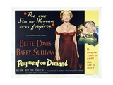 "The Story of a Divorce, 1951, ""Payment On Demand"" Directed by Curtis Bernhardt Giclee Print"
