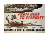 From Here To Eternity, 1953, Directed by Fred Zinnemann Reproduction procédé giclée