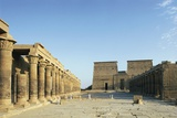 Egypt, Philae Island, Ruins of Temple of Isis Photographic Print