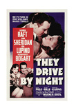 "The Road To Frisco, 1940 ""They Drive by Night"" Directed by Raoul Walsh Giclee Print"