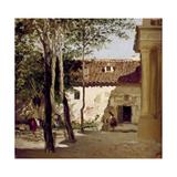 Patio del Monasterio De Piedra, Ca. 1872, Spanish School Giclee Print by Carlos De haes