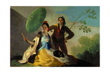 The Parasol, 1777, Spanish School Giclee Print by Francisco De Goya