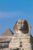 Great Sphinx and Pyramid of Menkaure Photographic Print