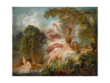 The Bathers, Ca. 1765 Reproduction procédé giclée par Jean-Honore Fragonard