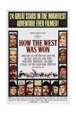 How the West Was Won, 1962, by George Marshall, John Ford, Richard Thorpe, Henry Hathaway Giclee Print