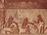 Egypt, Painted Relief of Bread Making Photographic Print