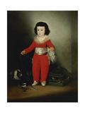 Manuel Osorio Manrique De Zuñiga, Ca. 1790, Spanish School Giclee Print by Francisco De Goya