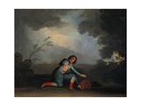 Escena De Una Comedia, Ca. 1798, Spanish School Giclee Print by Asensio Julia