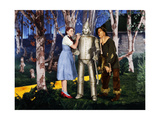 "Jack Haley, Judy Garland, Ray Bolger ""The Wizard of Oz"" 1939, Directed by Victor Fleming Giclee Print"