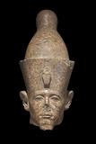 Egypt, Granire Head of Pharaoh Sesostris III, Karnak Photographic Print