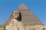 Great Sphinx and Pyramid of Of Chefren Photographic Print