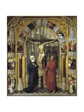 Redemption Triptych: the Crucifixion, 1455-1460, Flemish School Giclee Print by Vrancke Van der stockt