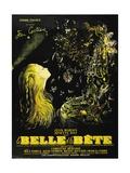 """Beauty And the Beast, 1946, """"La Belle Et La Beïte"""" Directed by Jean Cocteau Reproduction procédé giclée"""