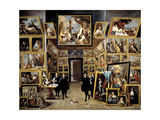 Archduke Leopoldo Guillermo At His Picture Gallery In Brussels, 1647-1651, Flemish School Giclee Print by David Teniers the Younger