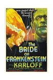 "Frankenstein Lives Again!, 1935, ""Bride of Frankenstein"" Directed by James Whale Impression giclée"