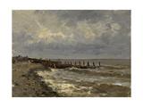 """Seascape """"Villerville"""" 1877-1884, Spanish School Giclee Print by Carlos De haes"""