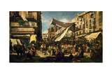 "El Bornet ""Plaza and mercado"" 19th Century Giclee Print by Ramon Marti alsina"