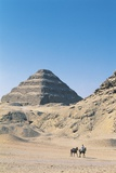 Funerary Monument to King Djoser 'step Pyramid' and Userkaf Pyramid Photographic Print