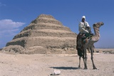 Man on Dromedary Poses before Funerary Monument to King Djoser 'step Pyramid' Photographic Print