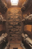 Painted Ceiling at Main Hall and Colossal Figures of Ramses II Photographic Print