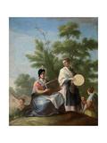 Mozas Tocando El Pandero, Ca. 1777, Spanish School Giclee Print by Ramon Bayeu