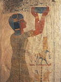 Egypt, Ancient Thebes, Valley of the Kings, Mural of Priest at Tomb of Ramses Ix Photographic Print