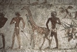 Mural Paintings of Tributes from Foreign Peoples, Detail of Giraffe from Punt Photographic Print