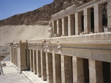 Egypt, Ancient Thebes, Dayr Al-Bahri, Valley of Kings, Colonnade of Temple of Hatshepsut Photographic Print
