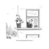 """You can disregard that last tweet."" - Cartoon Premium Giclee Print by Christopher Weyant"