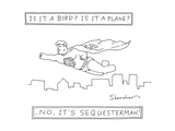 Is it a bird Is it a plane ...No, it's Sequesterman! - Cartoon Regular Giclee Print by Danny Shanahan