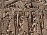 Egypt, Luxor, Karnak, Great Temple of Amon, Reliefs of Jackal Masked Priests Photographic Print