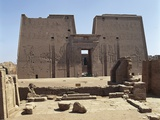Egypt, Idfu, Temple of Horus, Courtyard and Pylon Photographic Print
