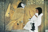 Mural Painting of Scene from Book of the Dead, Transformation into Golden Falcon Papier Photo
