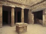 Egypt, Alexandria, Necropolis of Mustafa Basha, Peristyle Tomb 1 Photographic Print
