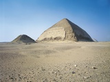 Egypt, Dahshur, Blunted Pyramid of Snefru, and Satellite Pyramid Photographic Print