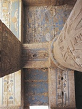 Egypt, Medinet Habu, Decorated Ceiling and Column in Temple of Ramses III Photographic Print