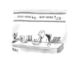 Good News down, Bad News up - Cartoon Regular Giclee Print by Christopher Weyant