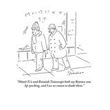 """Manti Te'o and Ronaiah Tuiasosopo both say Beyonce was lip synching, and …"" - Cartoon Premium Giclee Print by Danny Shanahan"