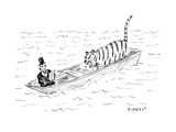 Lincoln faces off against Life of Pi - Cartoon Regular Giclee Print by David Sipress