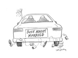 Just about Married - Cartoon Premium Giclee Print by Mike Twohy