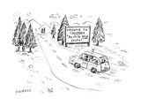 "Welcome to Colorado ""The Mile High State"" - Cartoon Regular Giclee Print by David Sipress"