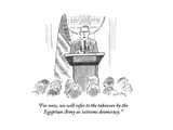 """For now, we will refer to the takeover by the Egyptian Army as 'extreme d…"" - Cartoon Premium Giclee Print by Mike Twohy"