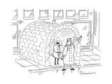 Doorman calls a cab from an igloo. - Cartoon Regular Giclee Print by Danny Shanahan