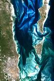 Satellite Image of Bazaruto Archipelago, Mozambique Fotografisk tryk