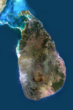 Satellite Image of Sri Lanka Photographic Print