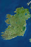 Satellite Image of Ireland Photographic Print