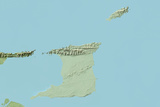 Trinidad and Tobago, Relief Map with Border Photographic Print