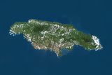 Jamaica, True Colour Satellite Image Photographic Print