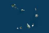 Satellite Image of Cape Verde Photographic Print