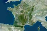 Satellite Image of France Photographic Print